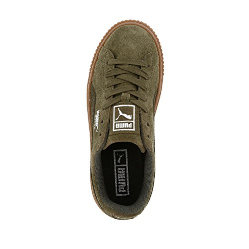 Puma Damen Cesto Piattaforma Metallico Sneaker Oliva Notte-argento