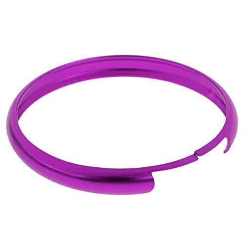 Jili Online Auto Car Smart Key Case Remote Fob Protective Ring Cover For BMW Mini Cooper - Purple