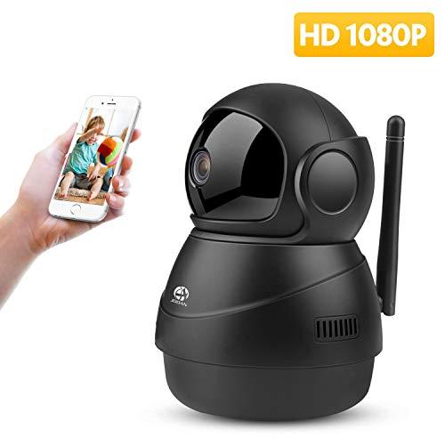 (1080P WiFi Camera Home Wireless Security Cameras IP Haichendz HD Indoor Surveillance System Pan/Tilt Two-Way Audio & Night Vision Baby/Elder/Pet/Nanny Monitor (Black))