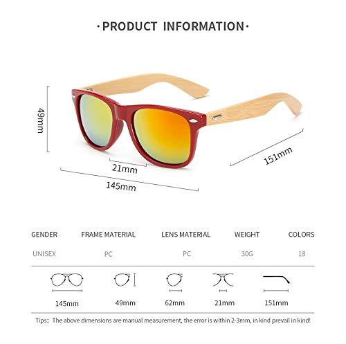 de los Gafas Sol Hombres de Marco Mujeres A de UN de Gafas Protection UV Aprigy de Glasses Sun Sol de Retro Madera Vendimia la TIwxZ5yq