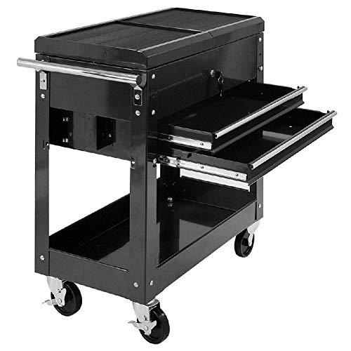 Storage Cabinet Organizer Drawer Garage Mechanics Tool Cart Top Rolling Store Tray ()