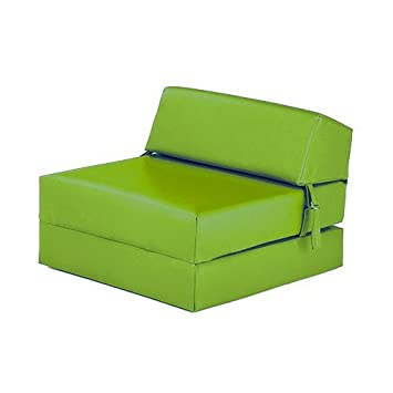 Sensational Shopisfy Soft Single Faux Leather Foam Zbed Chair Guest Mattress Lime Green Caraccident5 Cool Chair Designs And Ideas Caraccident5Info
