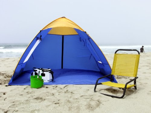 Genji Sports Pop Up Family Beach Tent And Beach Sunshelter & Sports Pop Up Family Beach Tent And Beach Sunshelter