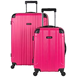 "Kenneth Cole Reaction Out Of Bounds Abs 4-wheel Luggage 2-piece Set 20"" & 28"" Sizes, Magenta"