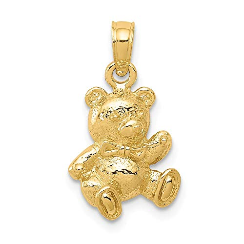 Jewelry Pendants & Charms Themed Charms 14k Teddy Bear Charm ()