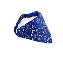 Adjustable Strap Dog Pet Cat Neckerchief Bandana Collar for Dogs Puppy Pet Products Collars Scarves Pet Accessories Small (Blue)