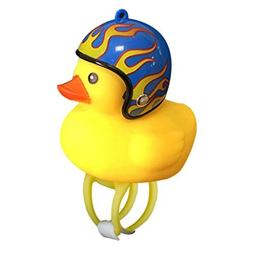 MA87 Cartoon Duck Head Light Shining Duck Bicycle Bells Handlebar Bicycle Accessories (E)