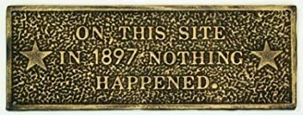 Cast Iron On This Site Plaque USA