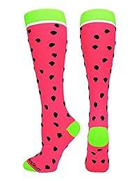 Neon Watermelon Athletic Over the Calf Socks