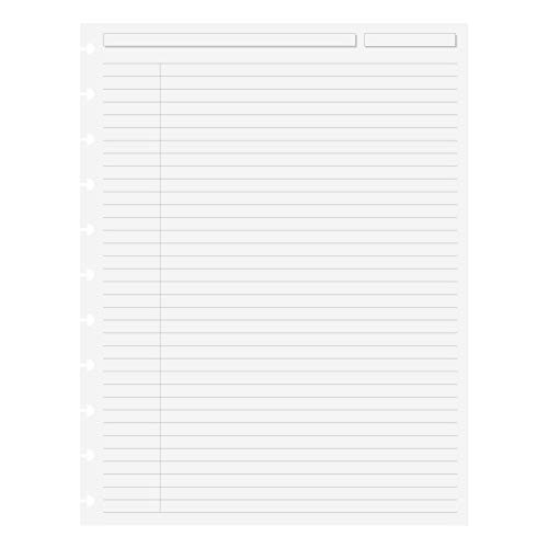 Levenger Circa Special Request College Ruled Refill Sheets, 100, Letter