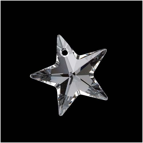 Swarovski Crystal, #6714 Star Pendant 20mm, 1 Piece, Crystal