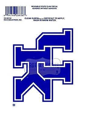 "Offically Licensed NCAA University of Kentucky Wildcats Small Static Cling 3.5"" X 4.5"""