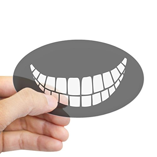 CafePress Grin II Sticker (Oval) Oval Bumper Sticker, Euro Oval Car Decal]()