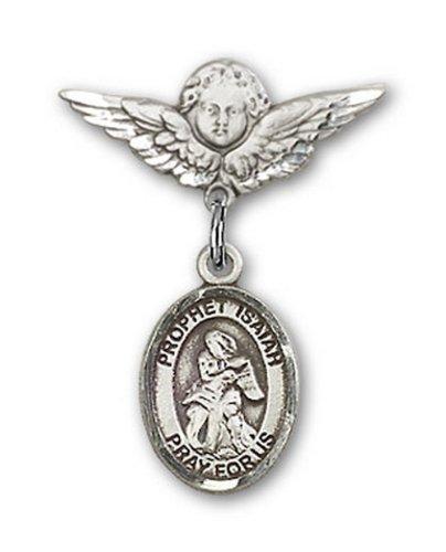 Icecarats Créatrice De Bijoux En Argent Sterling St. Isaiah Charme Ange Pin Badge 7/8 X 3/4