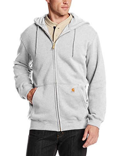 (Carhartt Men's Midweight Hooded Zip-front Sweatshirt,Heather Grey,Small)