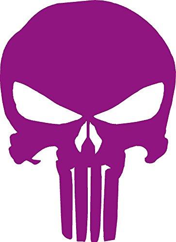 Punisher Vinyl Decal Sticker Windows (purple, 3 x 2 inchs)