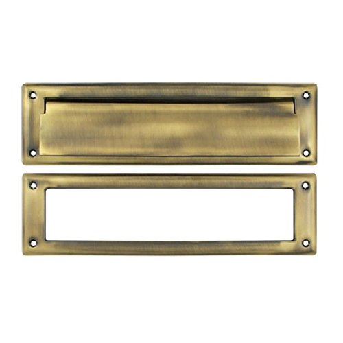 Solid Brass Magazine - Deltana MS211U5 13 1/8-Inch Mail Slot with Solid Brass Interior Frame