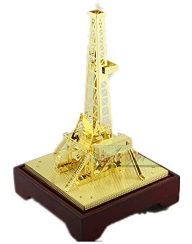 - New Oilfield Oil Well Derrick Drill Rig Gold Color Model Commemorative Edition