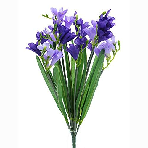 MARJON FlowersArtificial Freesia Bunch Purple ()
