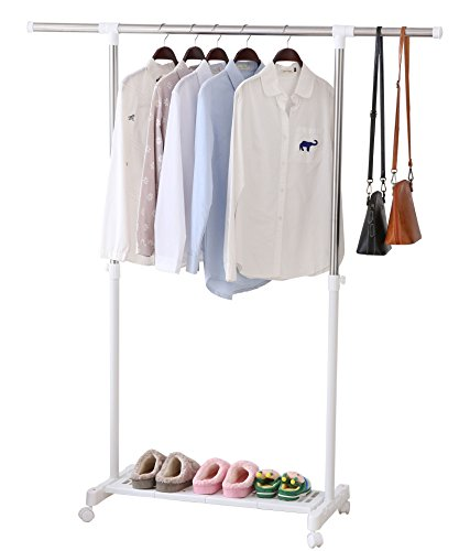 ALPHA HOME Adjustable Clothes Drying Rack Portable Rolling G