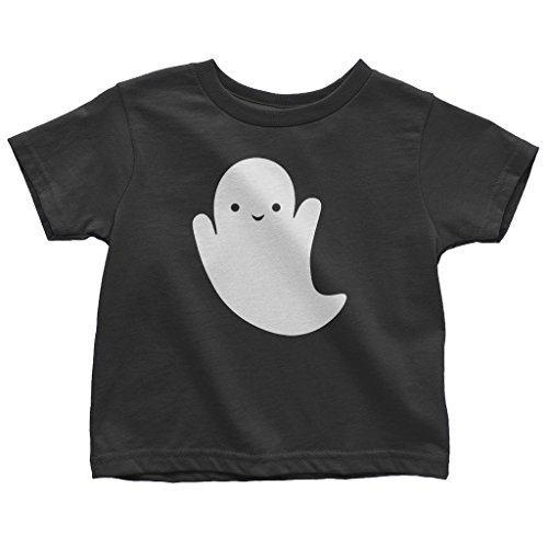 Mixtbrand Little Girls' Cute Halloween Ghost Toddler T-Shirt 3T Black ()