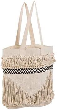Bolsa playa de macramé y flecos (algodón beige: Amazon.es: Bricolaje y herramientas