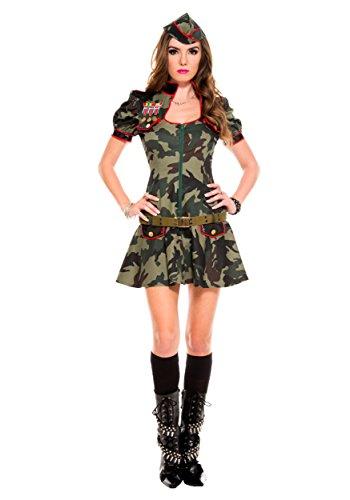 [PINSE Women's Sexy Army Brat Costume] (Adult Army Brat Costumes)