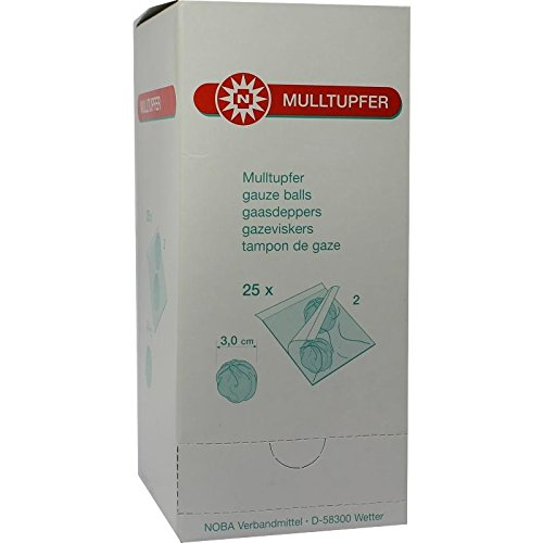 MULLTUPFER pflaumengroß steril 50 St Tupfer NOBAMED Paul Danz AG 735220