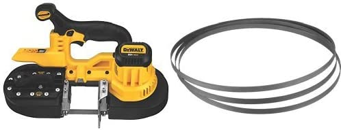 DEWALT DCS371B 20V MAX Lithium-Ion Band Saw, Bare-Tool with 24 TPI Portable Band Saw Blade, 3-Pack