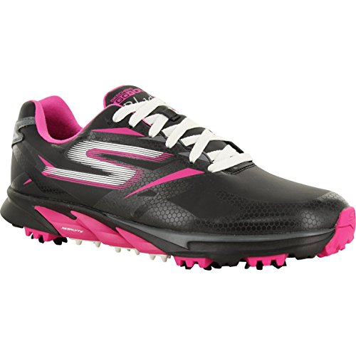 Skechers Performance Women's Go Golf Blade Golf Shoe, Black/Hot Pink, 9 M US (Skechers Golf Shoes compare prices)