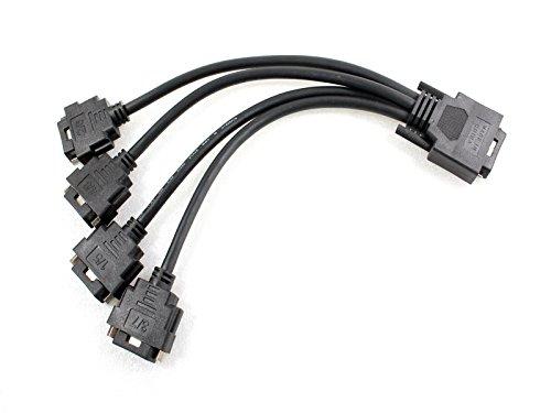 Original Dell VHDCI to Quad DVI Splitter Breakout Cable YK027