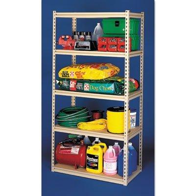 LSS-482484 Industrial Grade Stur-D-Stor Shelving Package, 5 Shelves, 48