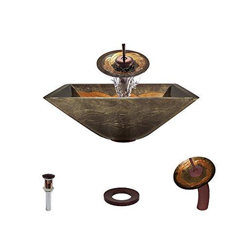 638 Oil Rubbed Bronze Waterfall Faucet Bathroom Ensemble ()