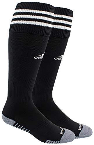 adidas Unisex Copa Zone Cushion III Soccer Socks (1-Pair), Black/White, 9-13