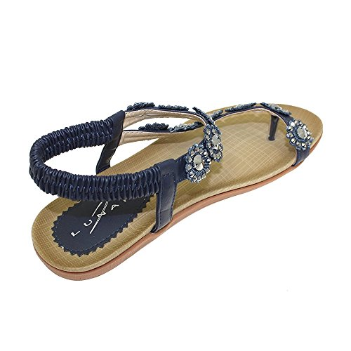 Lunar Women's 6 Lilac Rose Pewter JLH601 Charlotte Tan in Silver Orange Navy Turquoise 8 Floral Navy Pink Fuscia 3 5 White Red Gold Beige 4 9 Black 7 Blue Sandal ddWrn
