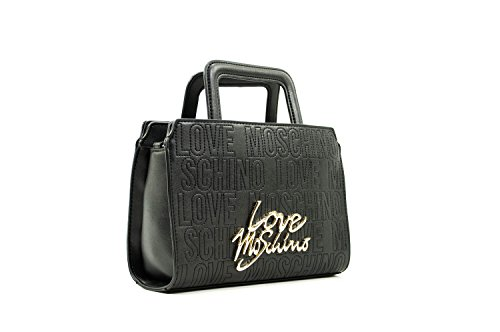 Love Moschino Mini hand Bag With Crossbody Calf Leather Black