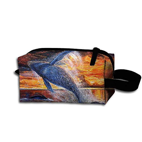 Makeup Cosmetic Bag Animals Sea Whales Ocean Medicine Bag Zip Travel Portable Storage Pouch For Mens Womens by Homlife