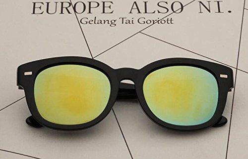 Mujer Hombre Sol Multicolor Opcional Gafas para Vintage Trend Mirror de y b I Frog RDJM Pantallas de Diseño YpAqw6I