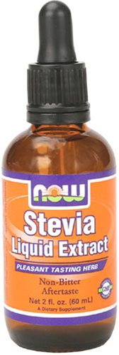 NOW Foods Stevia Liquid Extract Alcohol, 2-Ouncee (Pack of 5)