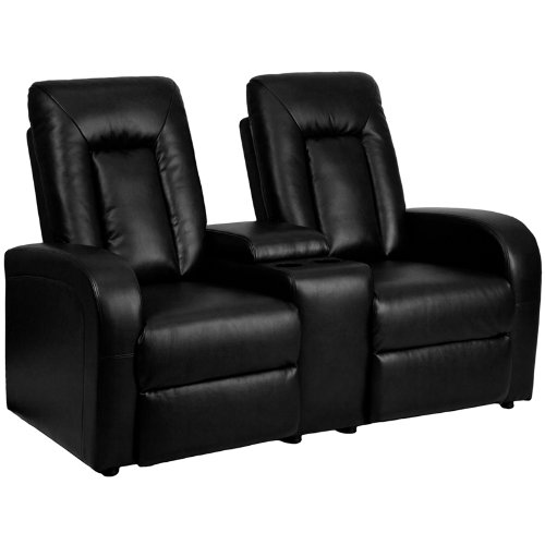 black leather reclining sofa. It\u0027s A Black Leather Reclining Sofa Where You Can Recline And Store Drinks As Well. Called The 2-Seat Home Theater Recliner With Storage