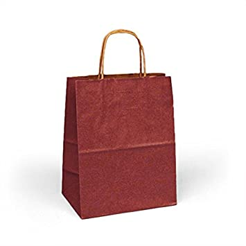 Amazon.com: Colored Borgoña bolsas de bolsas de papel kraft ...