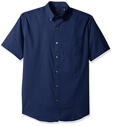 Van+Heusen+Men%27s+Flex+Stretch+Short+Sleeve+Non+Iron+Shirt%2C+Black+Iris%2C+Large