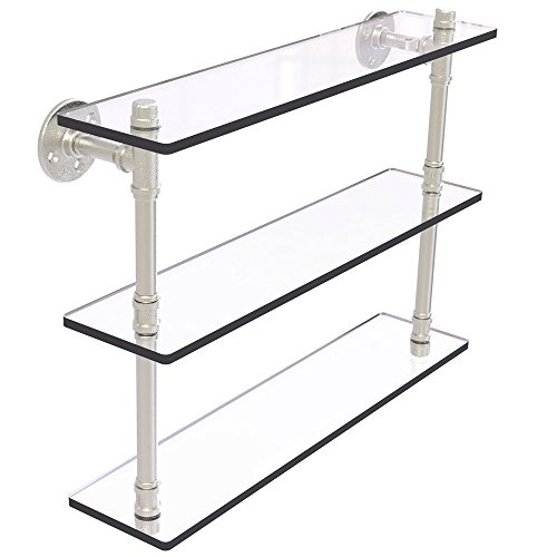 MD Group Pipeline 3-Tier Glass Shelf, 22'' x 16.9'' x 5.6'' x 14 lbs, Matte White by MD Group (Image #7)