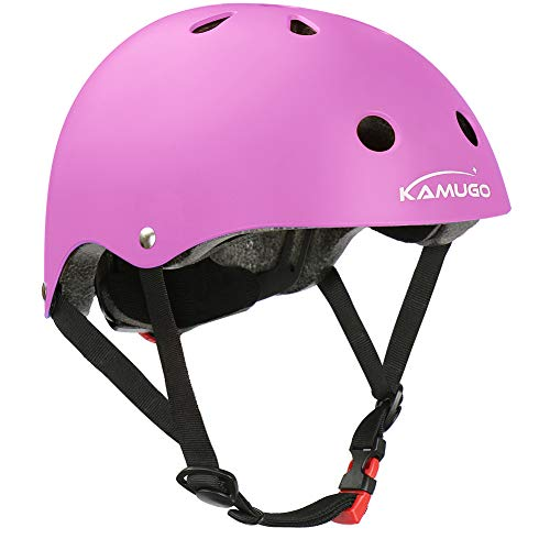 KAMUGO Kids Helmet,Toddler Helmet Adjustable Kids Helmet Ages 5-14 Years Old Boys Girls Multi- Sports Safety Cycling…