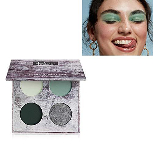 Pudaier 4 Colors eyeshadow Matte Pearl Waterproof And Sweat-proof Cross-border Eye Shadow Makeup Beauty (#01 Morandi) ()
