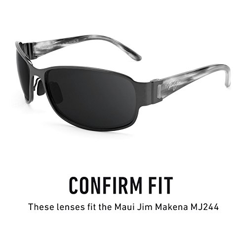 Maui repuesto Sigiloso Polarizados MJ244 para de — Makena Jim Opciones múltiples Lentes Negro w1SUfq6t