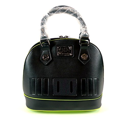 Loungefly Star Wars Rogue One Darth Vader Leather Satchel Structure Bowler Bag (Darth Vader Purse)