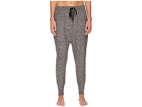 (Beyond Yoga  Featherweight Spacedye Weekend Traveler Midi SweatPants, Black White, Large)