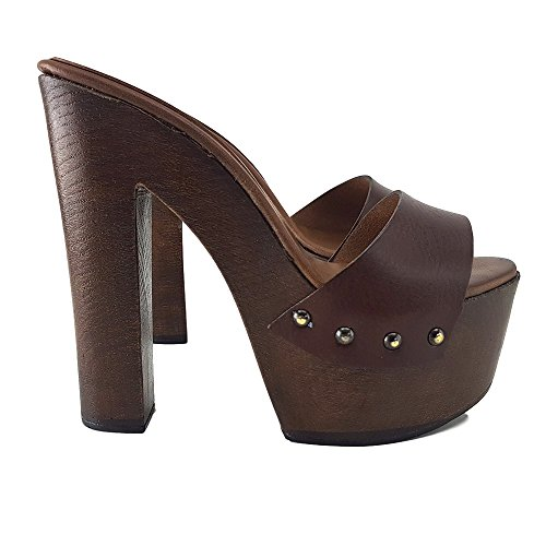 Sabot MY3410 Marrone Talon Marron shoes kiara Avec 14 YOx05qn4