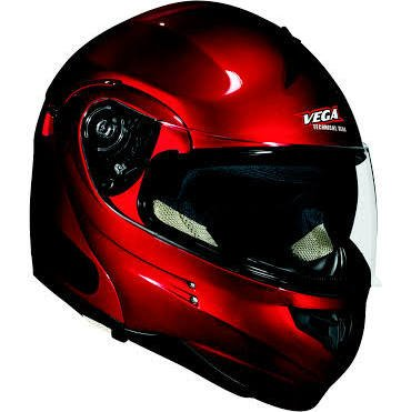 Modular Candy Red Helmet - Vega Summit 3.1 Full Face Modular Helmet (Candy Red, XX-Small)